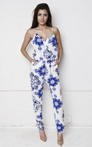 Load image into Gallery viewer, Floral & Paisley Jumpsuit - Liquor N Poker  LIQUOR N POKER