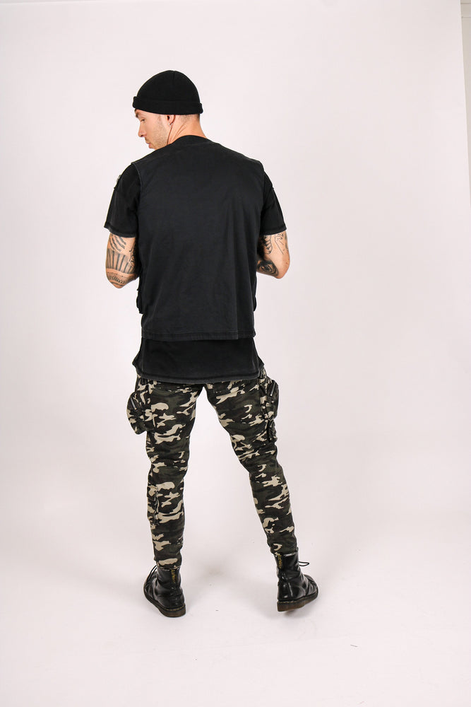 Fort utility trousers in khaki camo with bubble pockets - Liquor N Poker  Liquor N Poker