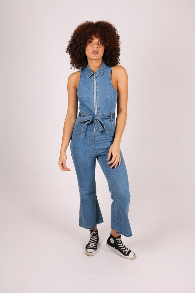 Wyoming 70s  Kick flare Jumpsuit
