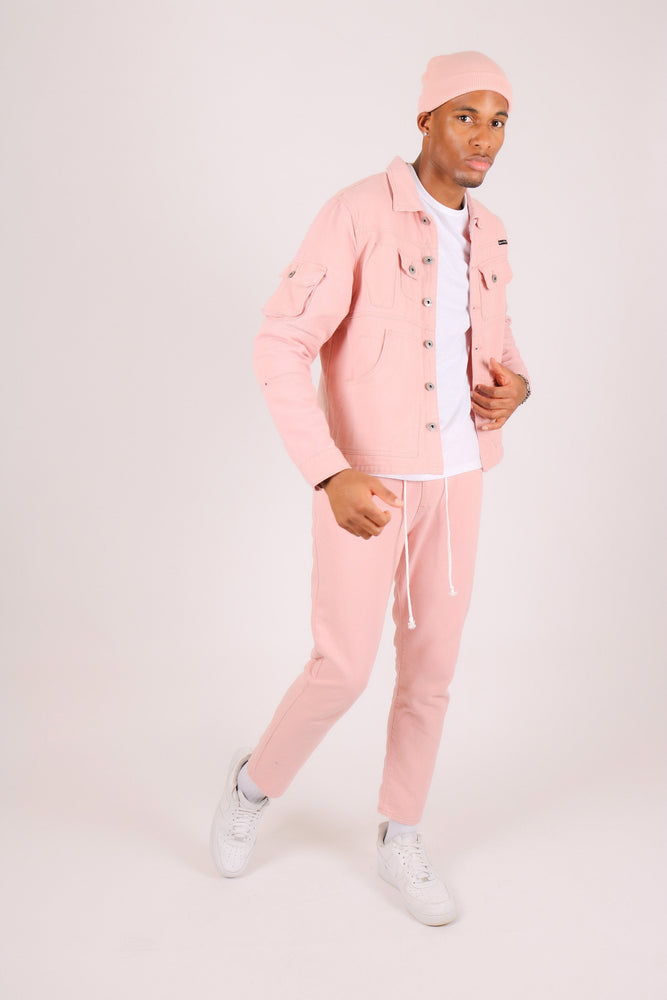 Cleveland Utility Worker Jacket Pink with utility pockets - Liquor N Poker  Liquor N Poker