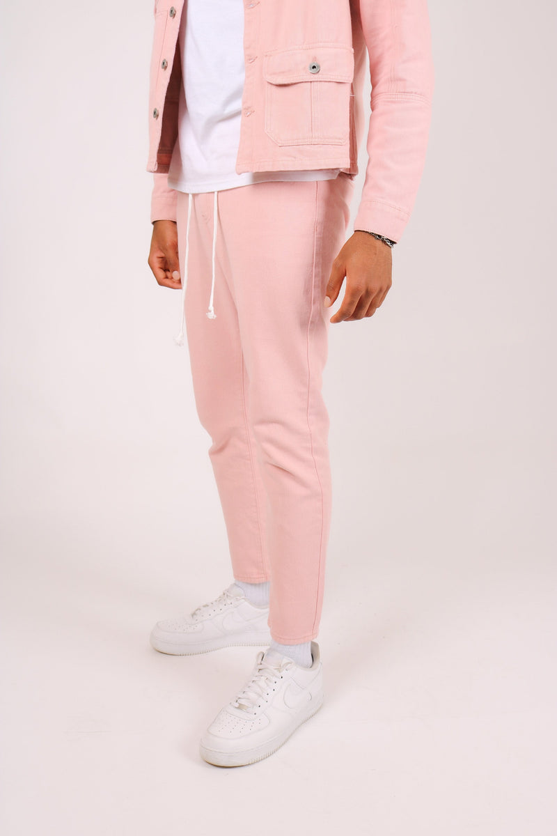 Miami  Cropped pink trousers