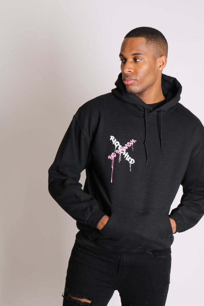 Riot child unisex hoody in black in relaxed fit - Liquor N Poker  LIQUOR N POKER