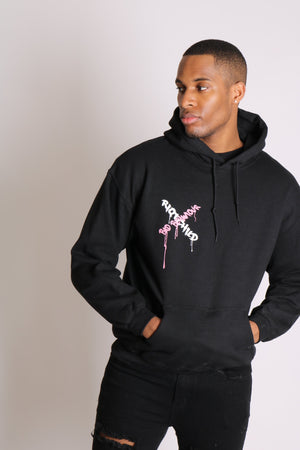 Load image into Gallery viewer, Riot child unisex hoody in black in relaxed fit - Liquor N Poker  LIQUOR N POKER