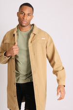 Return of the mac unisex longline denim jacket in sandy tan - Liquor N Poker  LIQUOR N POKER
