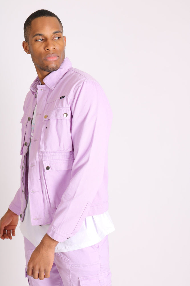 Liquor n Poker utility denim jacket in lilac - Liquor N Poker  LIQUOR N POKER