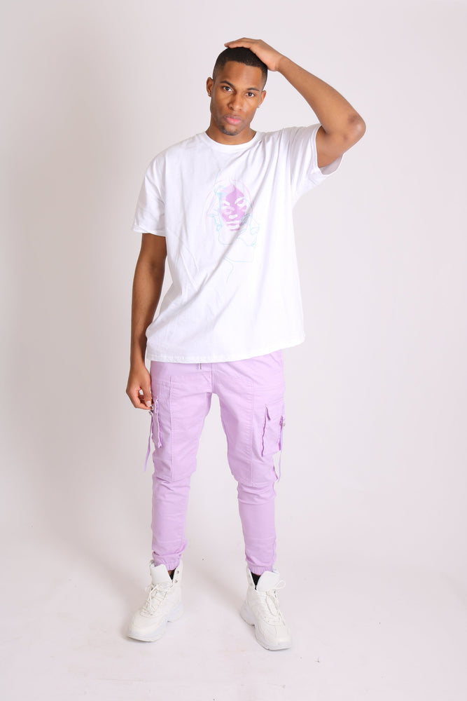 Detroit denim cargo trousers in lilac - Liquor N Poker  LIQUOR N POKER