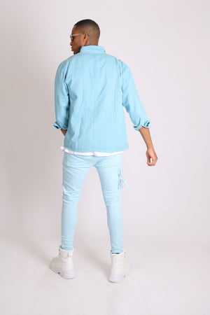 Load image into Gallery viewer, Liquor n Poker Utility cargo trousers in powder blue