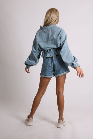 Load image into Gallery viewer, Topeka II High rise vintage denim shorts in indigo - Liquor N Poker  LIQUOR N POKER
