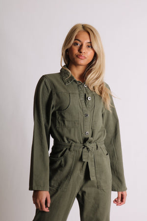 Wyoming utility jumpsuit in khaki