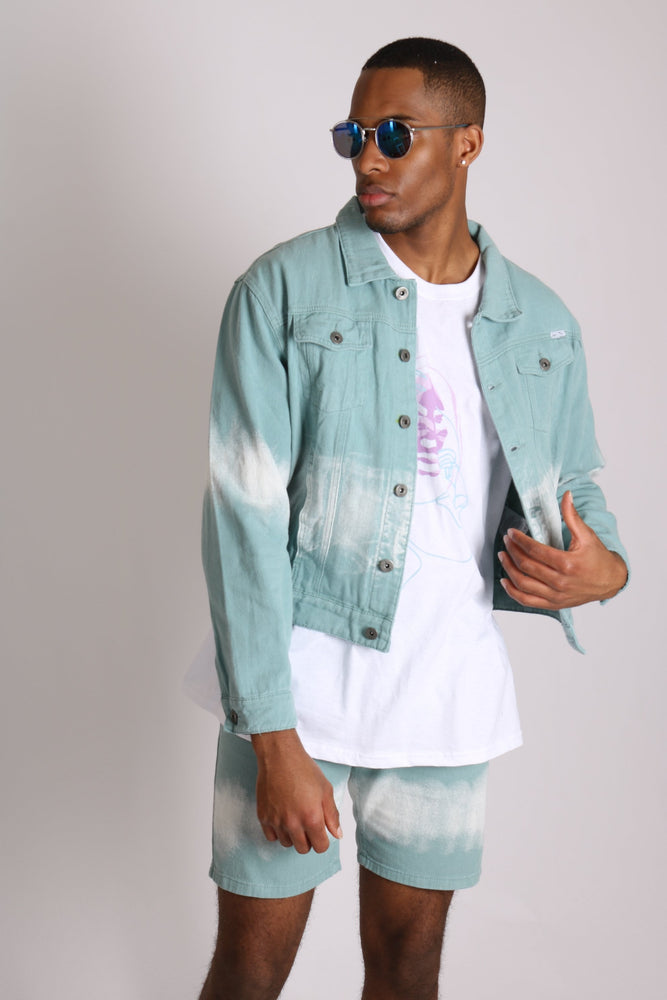 Liquor n Poker Oversized Ice cream tie dye denim jacket - Liquor N Poker  LIQUOR N POKER