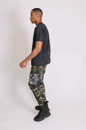 Fort utility trousers half blue and half green - Liquor N Poker  LIQUOR N POKER