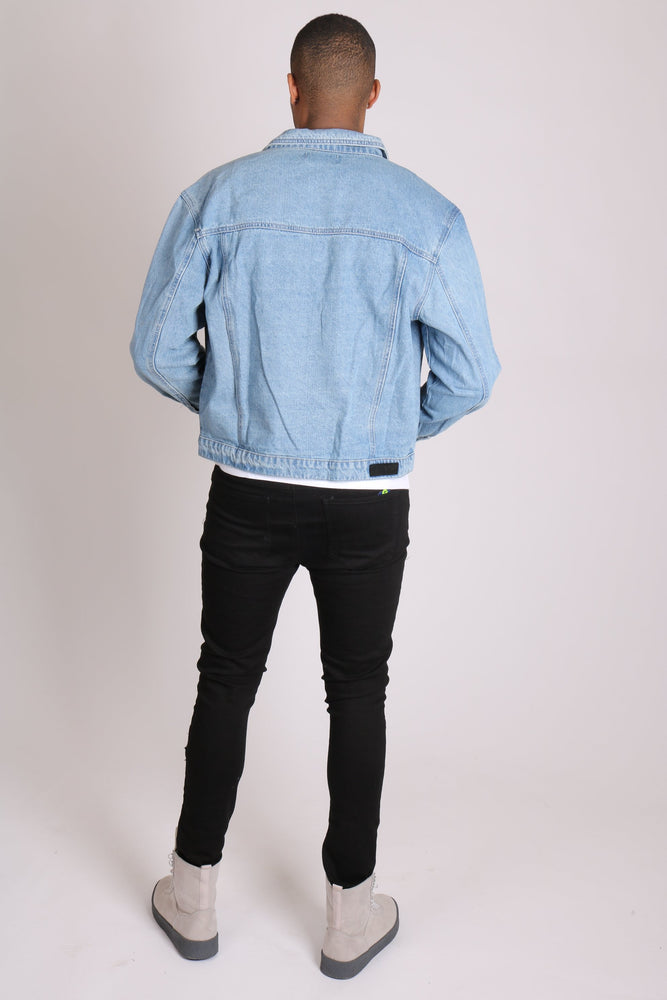 Nevada - utility denim jacket in blue wash - Liquor N Poker  LIQUOR N POKER
