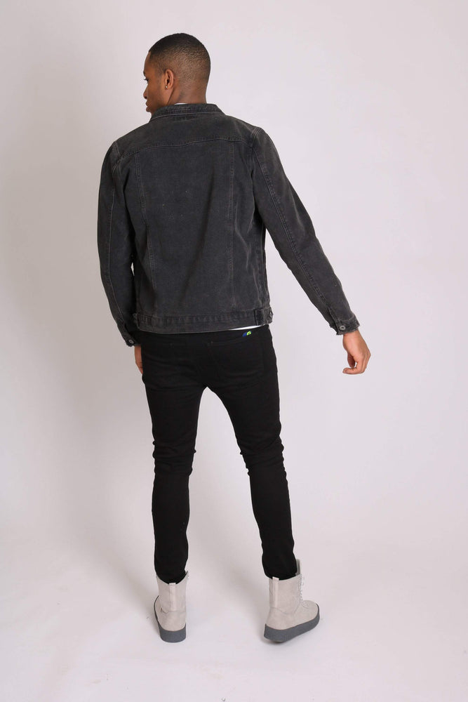 Logan stretch skinny fit jeans with rips in black - Liquor N Poker  LIQUOR N POKER