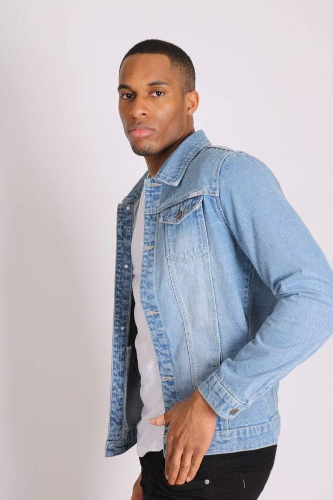 Norton Classic slim fit denim trucker jacket in stonewash - Liquor N Poker  LIQUOR N POKER