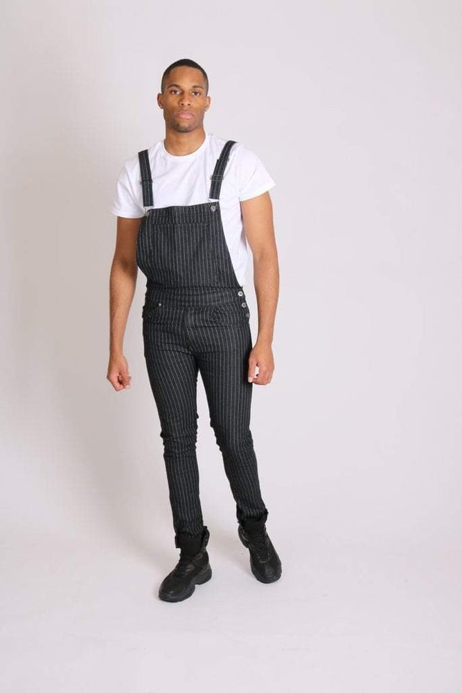 Load image into Gallery viewer, Nashville stretch skinny dungarees in pinstripe denim - Liquor N Poker  LIQUOR N POKER