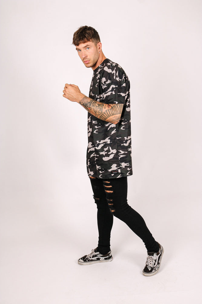 Fort oversized t shirt in military camo print - Liquor N Poker  LIQUOR N POKER