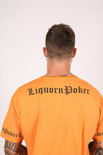 Liquor n Poker convict neon orange t shirt - Liquor N Poker  LIQUOR N POKER
