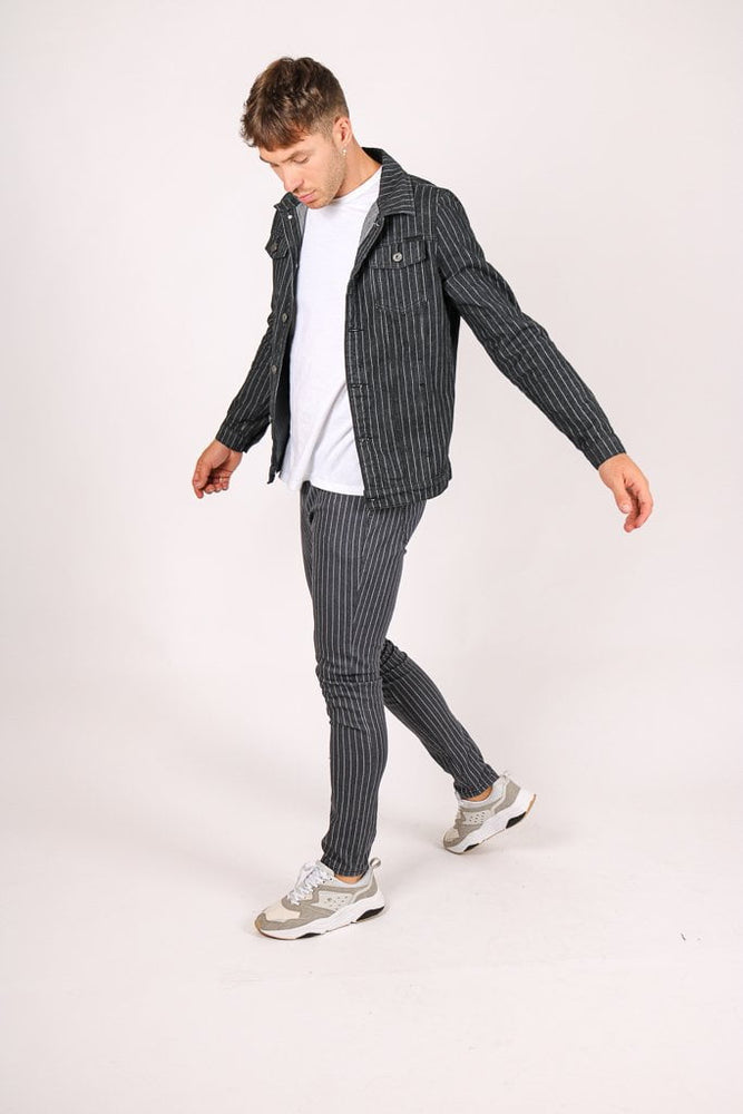 PINSTRIPE DENIM JACKET AND SKINNY JEAN CO-ORD