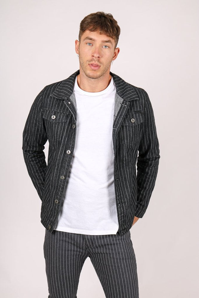 PINSTRIPE DENIM JACKET AND SKINNY JEAN CO-ORD - Liquor N Poker  LIQUOR N POKER