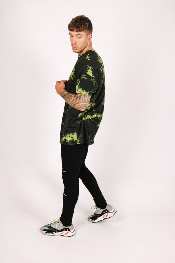 Formentera oversized t shirt in lime neon