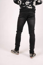 LOGAN SKINNY JEAN OPEN RIPS AND ANKLE ZIP - Liquor N Poker  LIQUOR N POKER