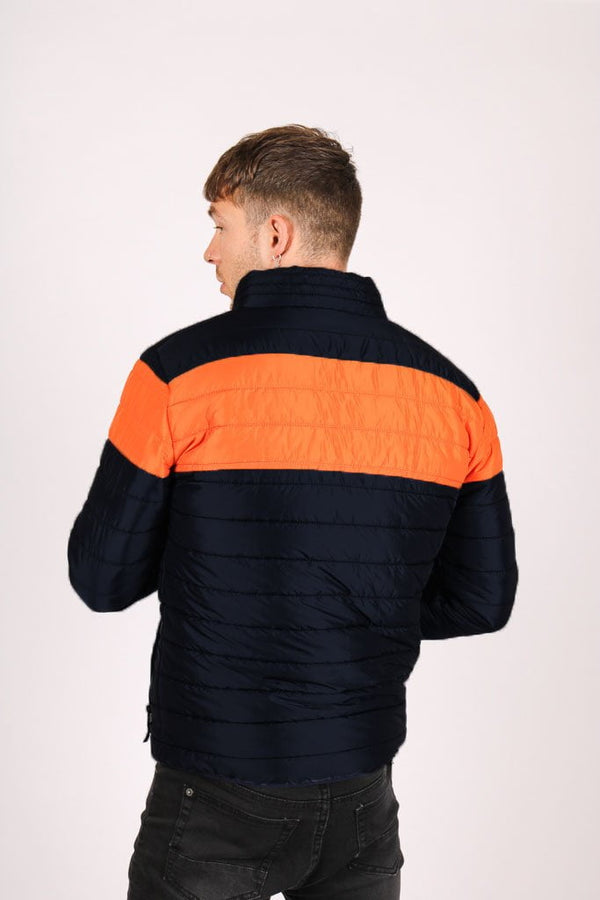 Liquor n Poker St Anton Puffer Jacket in black and orange