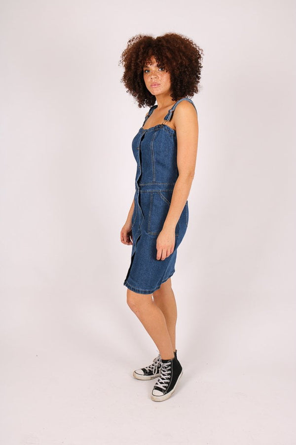 Skye vintage denim pinnafore