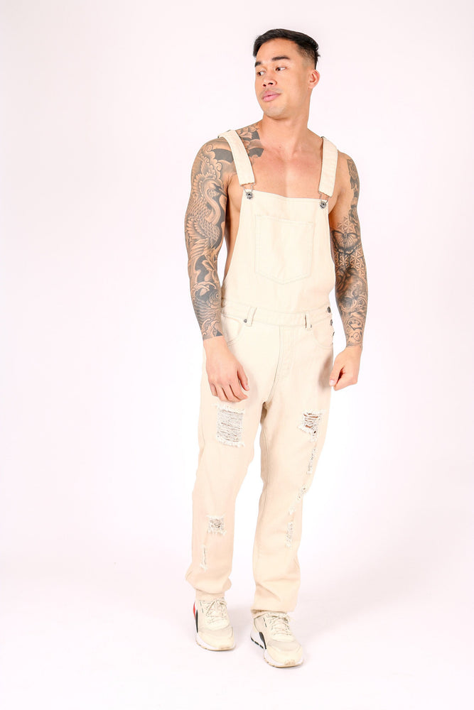 LOUISIANA RELAXED DENIM DUNGAREE IN LIGHT ECRU - Liquor N Poker  LIQUOR N POKER