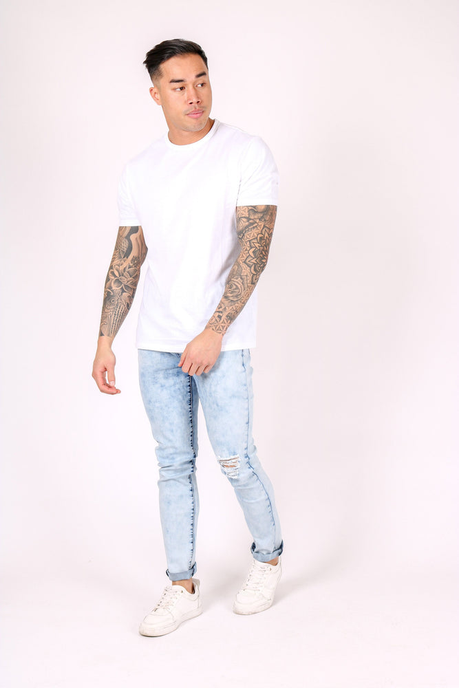 Logan super stretch skinny in bleach wash - Liquor N Poker  LIQUOR N POKER