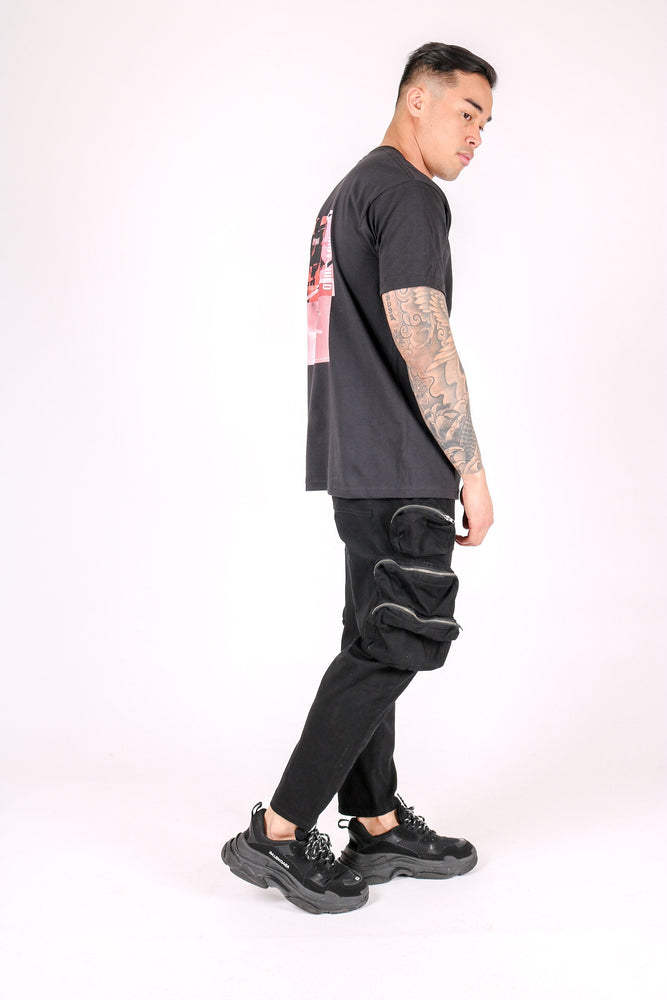Riot child oversized t shirt in black