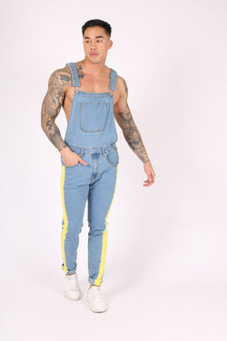 BLUE DUNGAREE WITH YELLOW SPORTS STRIPE - Liquor N Poker  Liquor N Poker