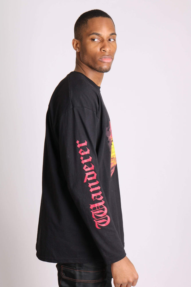 Wanderer long sleeve t shirt with safari print in black - Liquor N Poker  LIQUOR N POKER