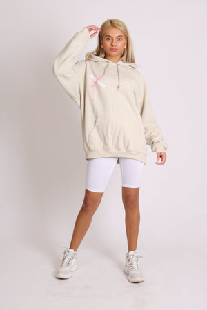 Load image into Gallery viewer, Riot child unisex hoody in sand in relaxed fit - Liquor N Poker  LIQUOR N POKER