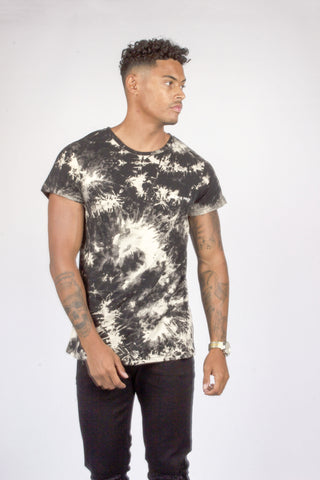 Baller Black Tye Dye Muscle Fit T-shirt