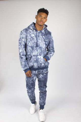Baller Tye Dye Tracksuit Set In Blue