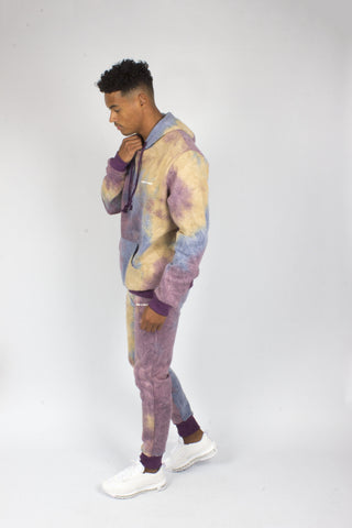 Baller Tye Dye Tracksuit Set In Purple