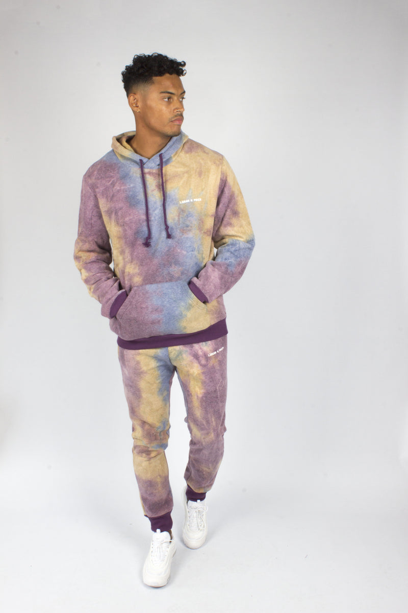 Baller Tye Dye Tracksuit Set In Purple - Liquor N Poker  Liquor N Poker