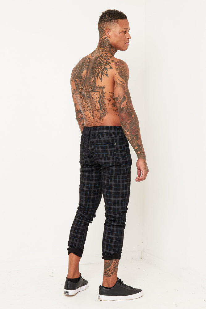 LOGAN SKINNY JEAN IN BLACK CHECK - Liquor N Poker  Liquor N Poker