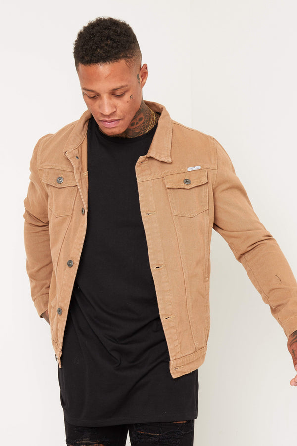 Norton Denim Jacket In Tan
