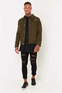 Norton Denim Jacket In Khaki