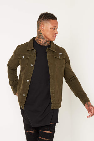 Norton Denim Jacket In Khaki - Liquor N Poker  LIQUOR N POKER