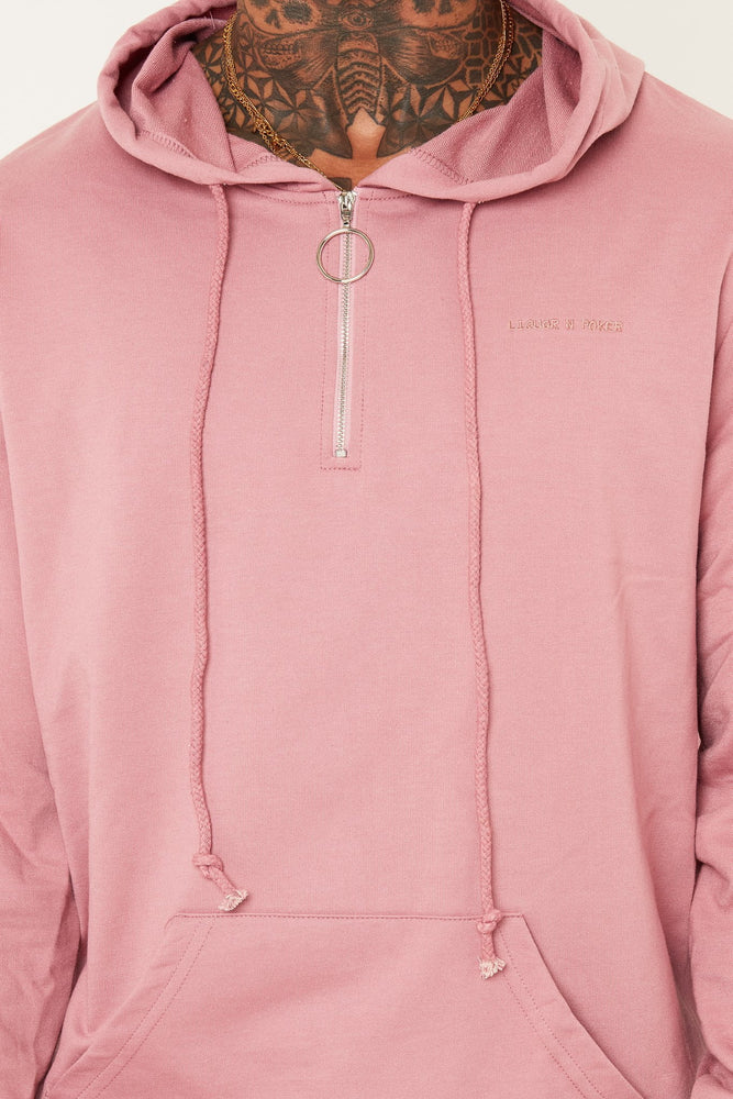 Load image into Gallery viewer, BAKERFIELD CLASSIC HOODY WITH O RING ZIPPER IN PINK - Liquor N Poker  LIQUOR N POKER