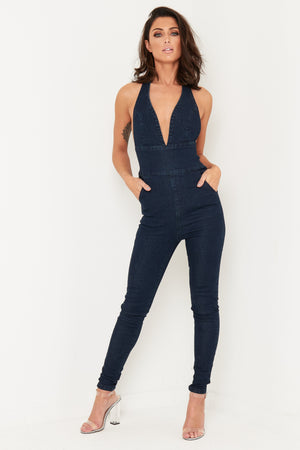 MIA SUPER STRETCH DENIM CATSUIT - Liquor N Poker  LIQUOR N POKER
