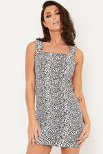LEOPARD MINI DENIM DRESS - Liquor N Poker  LIQUOR N POKER