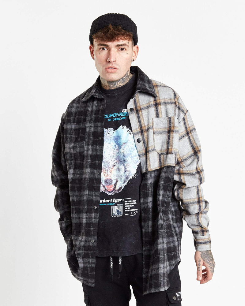 Vices spliced over shirt in relaxed fit