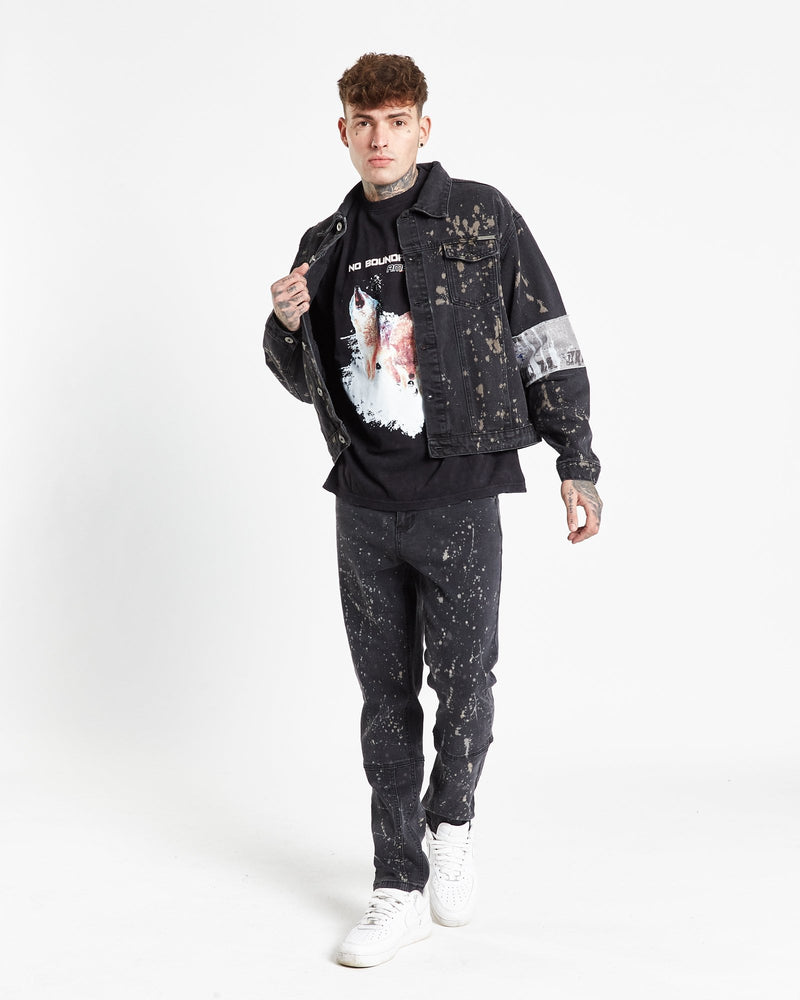 Load image into Gallery viewer, Faro straight leg jean in paint splatter