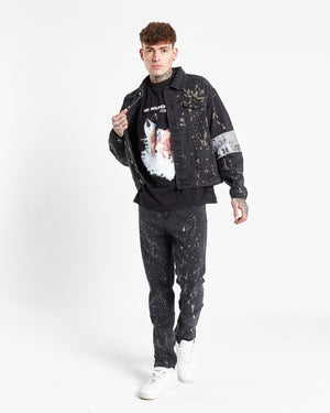 Faro straight leg jean in paint splatter