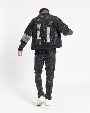 No boundaries oversized denim jacket with back patch