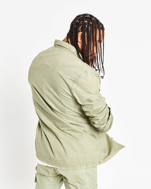 Fort utility shirt in washed khaki