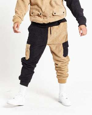 Vices spliced corduroy jogger in relaxed fit